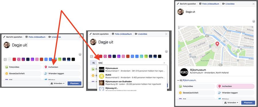 Check-in Facebook bedrijfspagina werkt niet