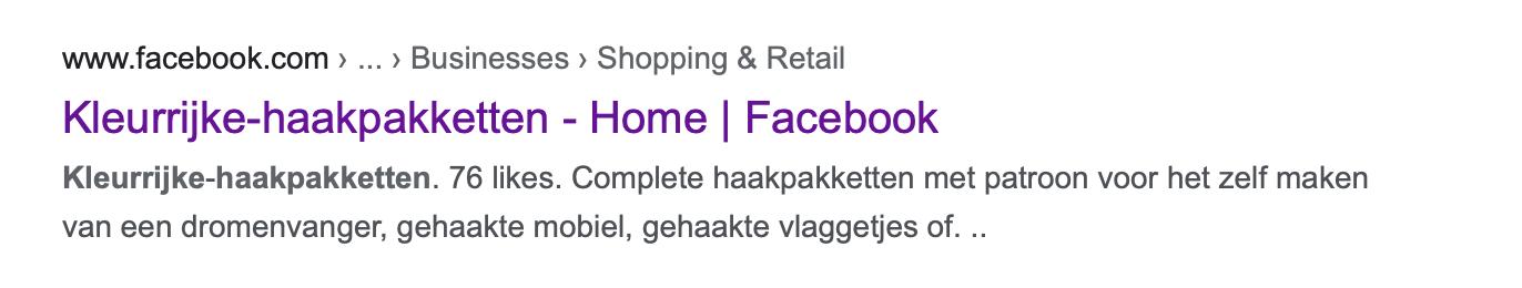bedrijfsovername en facebookpagina facebook naam